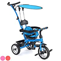 ToyStar Baby Kids Trike Buggy 4 in 1 Tricycle Push Along 3 Wheel Ride Stroller Pedal Bike