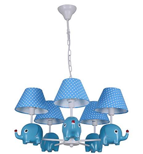 Deckenleuchten Für Kinder Kinderzimmer Deckenlampe Mädchen Jungen Schlafzimmer,E24E14 Moderner Europäischer Kreativer Cartoon Elefanten Kronleuchter,70X60Cm (Keine Glühbirne) -