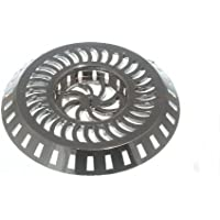 SINK SHOWER STRAINER WASTE TRAP CHROME PLASTIC 80MM WIDEST 36MM CENTRE