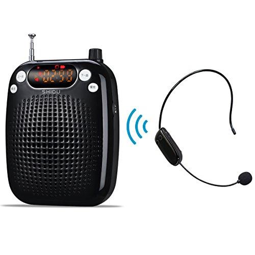 Portátil Amplificador de voz Inalámbrico con fm Estéreo microfono con Radio TF/U...