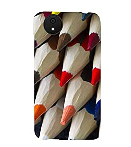 SERIES OF ROUGH SHARPENED COLOUR PENCILS 3D Hard Polycarbonate Designer Back Case Cover for Micromax Android A1::Micromax Canvas A1 AQ4502
