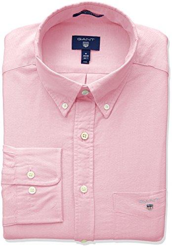 4407fd753 Gant Men's The Oxford Shirt Reg Bd Casual, Red (Light Pink 662),