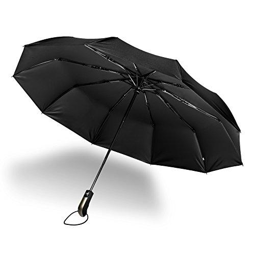Ombrello Pieghevole Automatico, ZetHot Pioggia Automatico Ombrello da viaggio di alta qualità e resistenza - 10 stecche rinforzate, funzione anti-vento Teflon