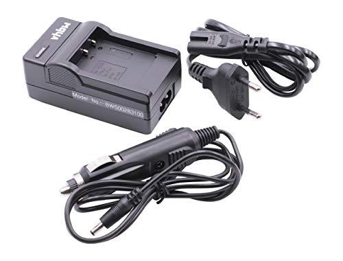 vhbw 220V Ladegerät Ladekabel Netzteil mit Kfz-Lader für FUJIFILM FinePix F50fd, F60, F60fd, F70, F70EXR, F72, F72EXR wie Fuji NP-50, Kodak Klic-7004. Finepix Camcorder