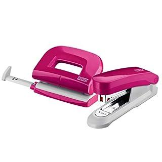 Novus Schreibtisch Set (Heftgerät E 15 mit Locher E 210), pink