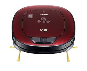 LG VSR8600RR Hombot RoboNavi 10.0 Robot aspirapolvere, per case con tappeti, colore: rosso lucido 3D