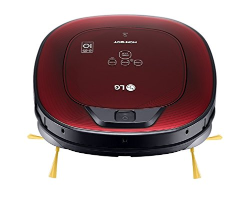 LG Electronics HomBot Turbo Serie 8–Saugroboter, Häuser mit Teppiche, Rot Glanz 3d