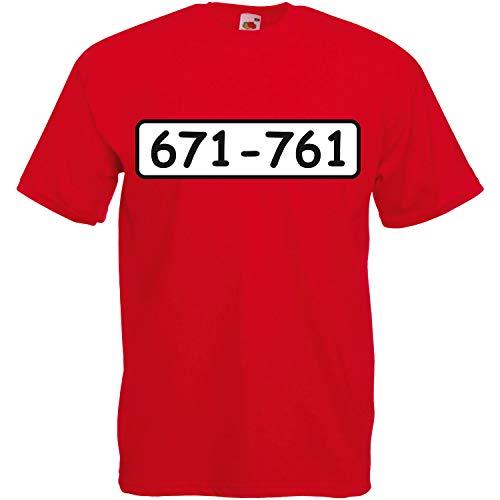 T-Shirt Panzerknacker Kostüm mit Wunschnummer-STANDARDNUMMER Herren und Kinder Verkleidung zum Karneval Fasching Outfit SET01 T-Shirt XL