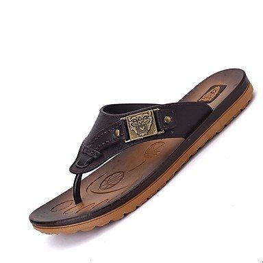 pantofole Infradito da uomo Pantofole & amp;Flip-flop Primavera Estate Autunno Inverno Comfort Leath sandali US7 / EU39 / UK6 / CN39