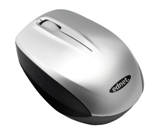 Ednet 81159 Notebook Wireless MINI Mouse Silver Mouse