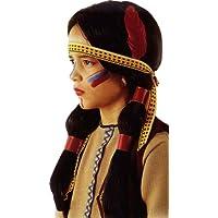 Carnival Toys - Pe912 - Perruque Indienne Fille Avec Bandeau Plume