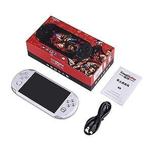 MapleDE Mode Handspielkonsole, 5,1-Zoll-PSP-Spielkonsole Handheld Nostalgic X9 Wiederaufladbare FC Kindermode GBA Handspielkonsole,16GBlack