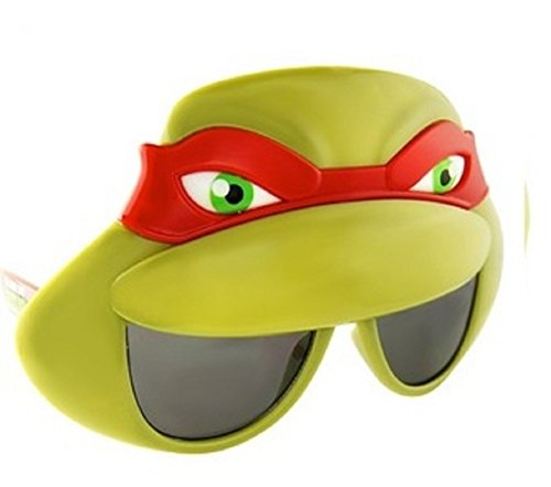 Sunstaches Officially Licensed TMNT Mask Sunglasses, Red