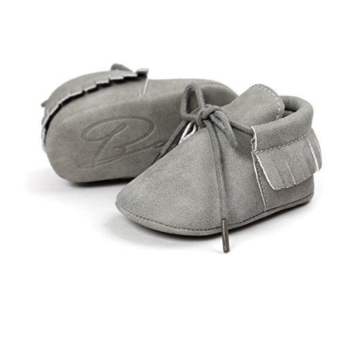 RVROVIC , {Chaussures premiers pas pour bébé (garçon) Gris