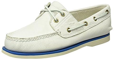 Timberland Herren Classic Boat 2 Eyewhite Mystic Bootsschuhe, Weiß (White