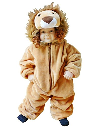 Löwen-Kostüm, F57 Gr. 86-92, für Klein-Kinder, Babies, Löwe Kostüme für Fasching Karneval, Kleinkinder-Karnevalskostüme, Kinder-Faschingskostüme, Geburtstags-Geschenk Weihnachts-Geschenk