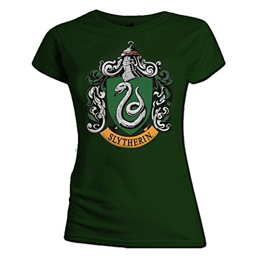 Ripleys Clothing Official Skinny T Shirt Harry Potter Hogwarts Slytherin House Green All Sizes