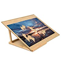Becko Puzzle Board & Bracket Set / Wooden Puzzle Board Kit / Jigsaw Puzzle Plateau - With Puzzle Board for Up To 1000 Pieces