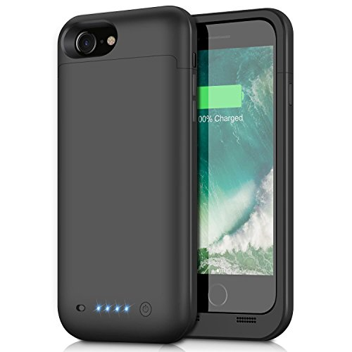 Cover Batteria iPhone 8/7, 4500mAh Custodia Cover Protettiva con Batteria Esterna integrata Ricaricabile Power Bank Backup Battery Charger Case per iPhone 8/7-4.7''