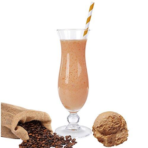 Eiskaffee Geschmack Proteinpulver Vegan Proteinpulver mit 90% reinem Protein Eiweiß L-Carnitin angereichert für Proteinshakes Eiweißshakes Aspartamfrei (1 kg) (1 kg)