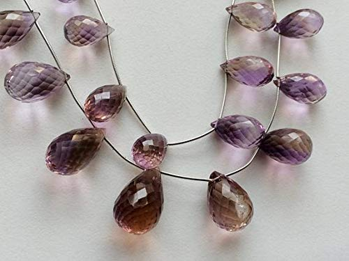 and Natural Ametrine Necklace, Ametrine Drop Beads, 11x20mm - 16x27mm, 7.5 Inch Code-HIGH-16674 ()