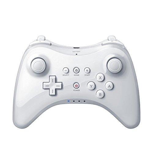 QUMOX Wireless Controller Gamepad Joypad Fernbedienung für Nintendo Wii U Pro, Weiß (Controller U Wii Pro)