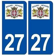 27 Bourg Achard logo autocollant plaque stickers ville - droits