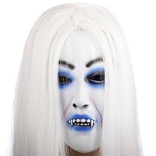 Puppet Outfit Kostüm (Samgoo Halloween Horror gruseligen Teufel Hexe mit Haaren maske Mottoparty Deko)