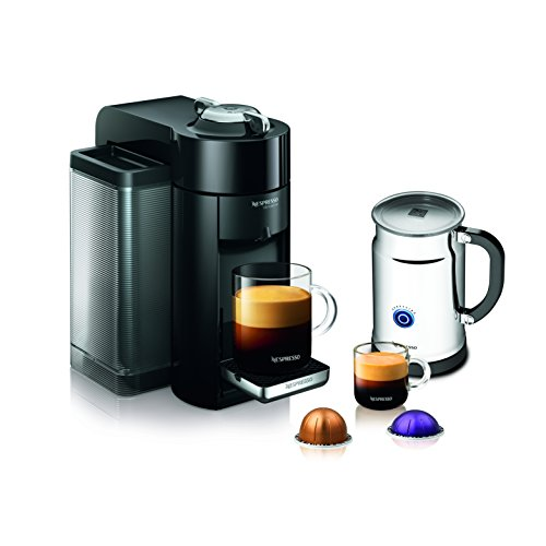 Nespresso A+GCC1-US-BK-NE VertuoLine Evoluo Deluxe Coffee & Espresso Maker with Aeroccino Plus Milk Frother, Black by Nespresso