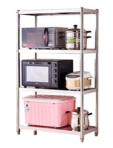 HWF Etagères de cuisine Articles de cuisine Étagère Cuisine Étagère Micro-ondes Ensemble de four Acier inoxydable (taille : 125 * 100 * 45cm)