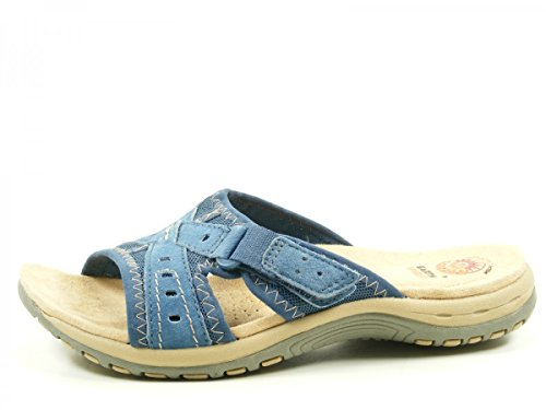 Earth Spirit 32025-17 Rialto Schuhe Damen Sandalen Pantoletten Blau