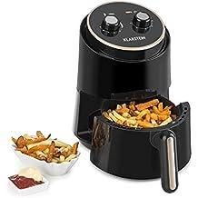 Klarstein Well Air Fry • friteuse à air chaud • friture sans huile • cuire • griller • 1230W • 1,5L capacité totale • protection antisurchauffe • écran de contrôle analogique • voyants lumineux • noir