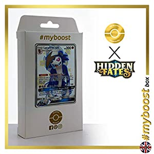 Lycanroc-GX SV66/SV94 Variocolor - #myboost X Sun & Moon 11.5 Hidden Fates - Box de 10 cartas Pokémon Inglesas