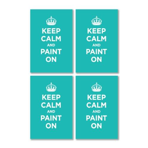 -glanzend-vinyl-motiv-keep-calm-and-paint-in-turkis-grun-ww2-wwii-parody-sign-4-aufkleber-105-x-7-cm
