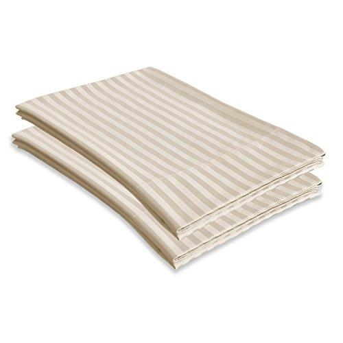 Echelon Home 800Ägyptische Stripe Standard Fällen [Paar], Stein