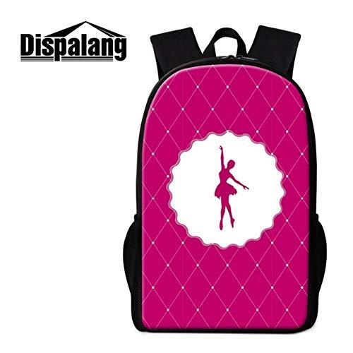 Laptop Tote-schokolade (SAOJI Rucksack Art Ballet Print Bookbag für Kinder Personalisierte Schultaschen für Kinder Lässiger Rucksack für Grundschüler, Schokolade)