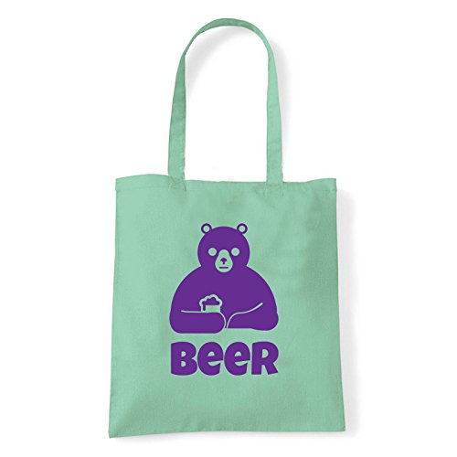 Art T-shirt, Borsa Shoulder Beer, Shopper, Mare Menta