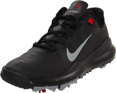 Golf Schuh Nike Golf 2012 Herren TW '13 Golfschuhe Schwarz Oder Weiß - Schwarz/Stealth/Varsity Rot - 42.5