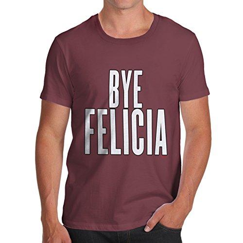 Herren Bye Felicia T-Shirt Burgund