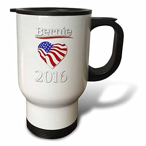statuear Vote Sanders 2016avec cœur 14-Ounce Tasse de voyage en acier inoxydable