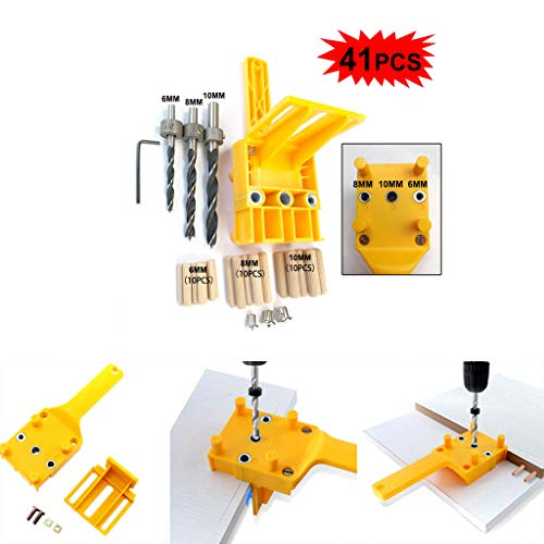 Mitlfuny -> Haus & Garten -> Küche,Handheld Holzbearbeitung Dübelbohrschablone Holz Dübelbohrung Lochsäge ()