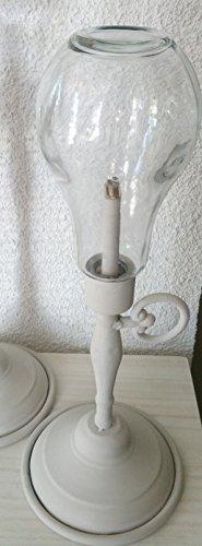 DonRegaloWeb - Lámpara con forma de quinqué antiguo de metal en color...