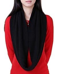 Novawo® Women's Men's Super Soft Cashmere Solid Infinity Scarf