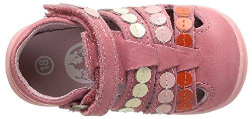 Kickers Gift, Chaussures Bébé marche bébé fille Rose (Rose/Corail)