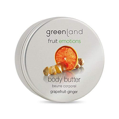 Greenland Body Butter Grapefruit Ingwer Duft| Tolle Alternative zu Bodylotion trockene Haut| Wellness und Beauty Körperbutter| Veggie & ohne Silikone