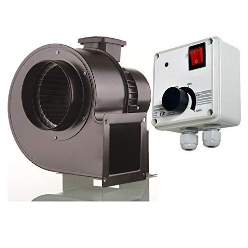 Industrie Radiallüfter OBR260M mit 2000watt DREHZAHLREGLER Radialgebläse Zentrifugallüfter Zentrifugalventilator Zentrifugalgebläse Radial Ventilator Gebläse Luft-Absaugung Abluftanlage Absauganlage
