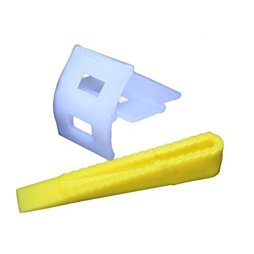 50 clips y cuñas para nivelar azulejos, espaciadores de nivelador de azulejos