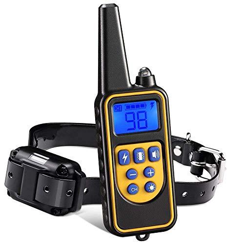 Erziehungshalsband Receiver -pet Dog Training Collar Wasserdicht Wiederaufladbare LCD Display Fernbedienung Hund Training Kragen,Für 1 Hund