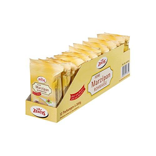Zentis Feine Marzipan Rohmasse, 12er Pack (12 x 200 g Packung)