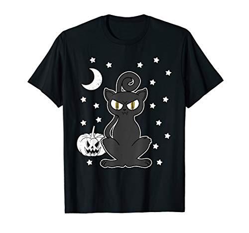 Halloween Katze Katzen Kitten Kürbis Spuk Grusel Geschenk  T-Shirt